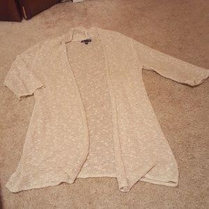 Half sleeved beige cardigan